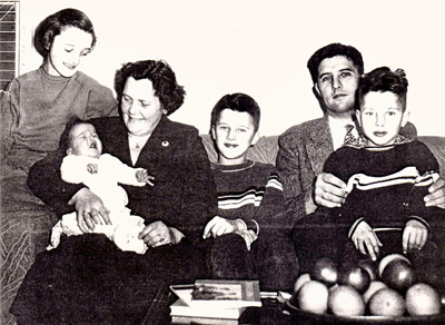 Marianne Scott's family after arriving in Ohio